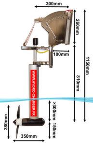 Dimensions de l'Hydro-chargeur de Swi-Tec